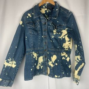 Axcess Custom Bleached Up-Cycled Denim Jacket XL